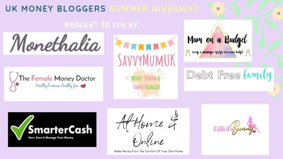 summer giveaway list of top uk money bloggers